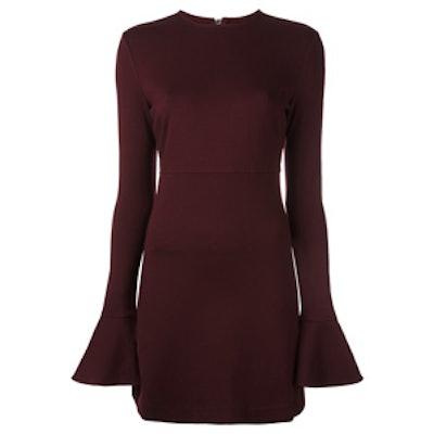 Flared Cuff Mini Dress