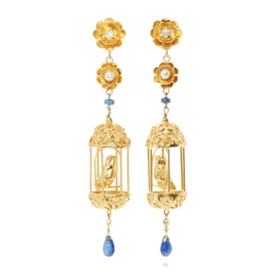 M'O Exclusive Gold Aviary Classic Earrings
