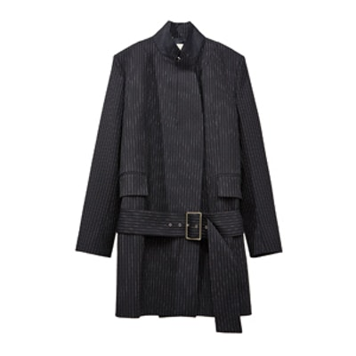 Pinstripe Studio Coat