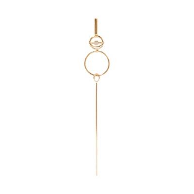 Long Foam 14-Karat Gold Diamond Earring