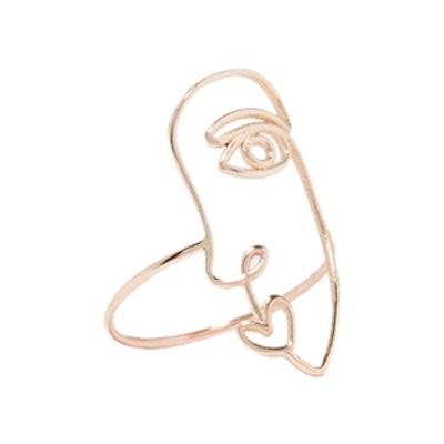 Face 14-Karat Gold Ring