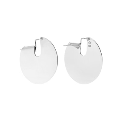 Pailettes Silver Earrings