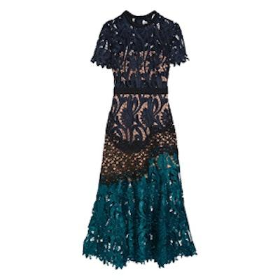 Prairie Guipure Lace Midi Dress