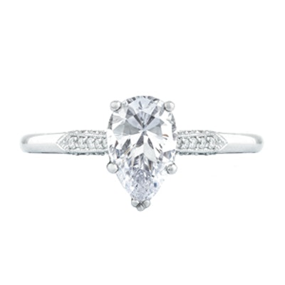 Pear-Shaped Diamond And Platinum Engagement Ring