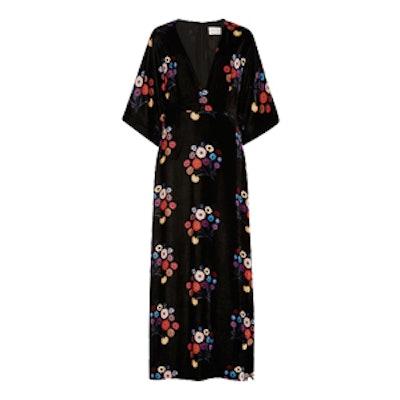 Floral Velvet Rena Dress