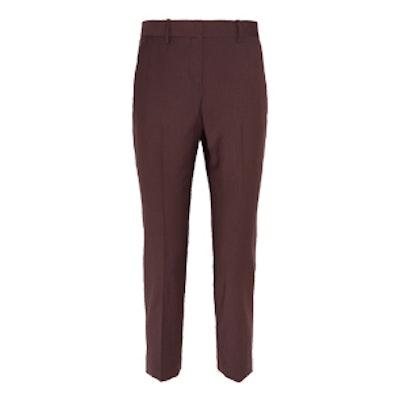 Treeca 2 Cropped Wool-Blend Slim-Leg Pants