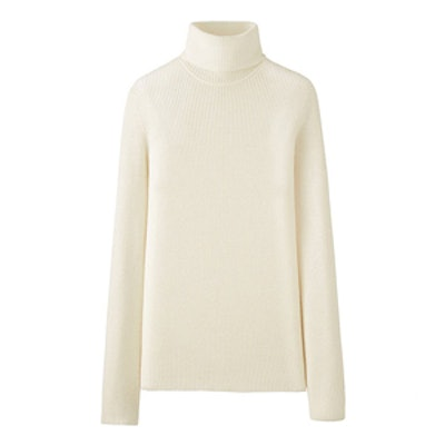 Cashmere Ribbed Turtleneck Sweater