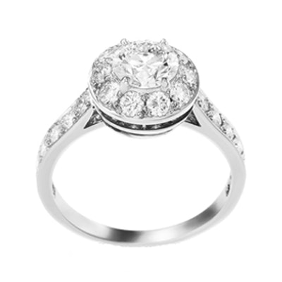 Icône Solitaire Diamond Engagement Ring