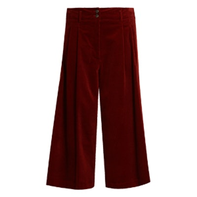 Easton Wide-Leg Cotton-Blend Corduroy Culottes