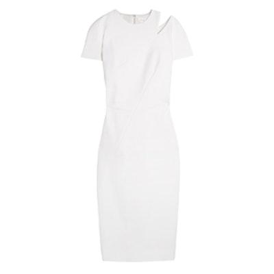 Cutout Stretch Cotton-Blend Dress