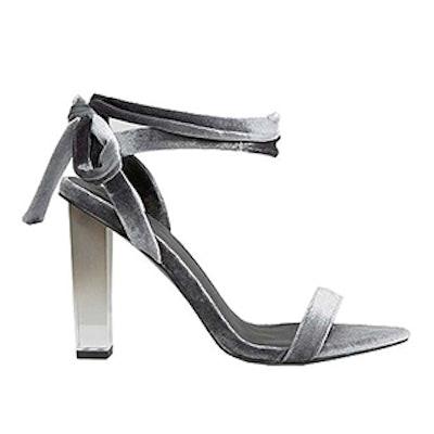 Hope Velvet Clear Heeled Sandals
