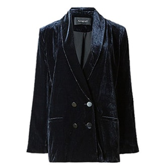 Double Breasted Velvet Jacket