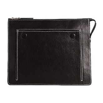 Leather Amber Attached Clutch Bag