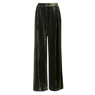 Wide Leg Velvet Trouser