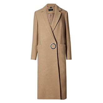Wool Rich Long Double Cloth Overcoat