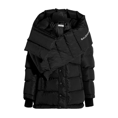 Swing Duodoune Oversized Quilted Shell Hooded Coat