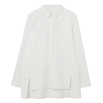 Grosgrain Collar Shirt