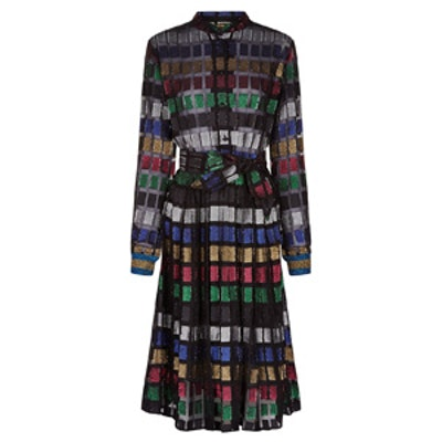 Multi Lurex Soraya Shirt Dress