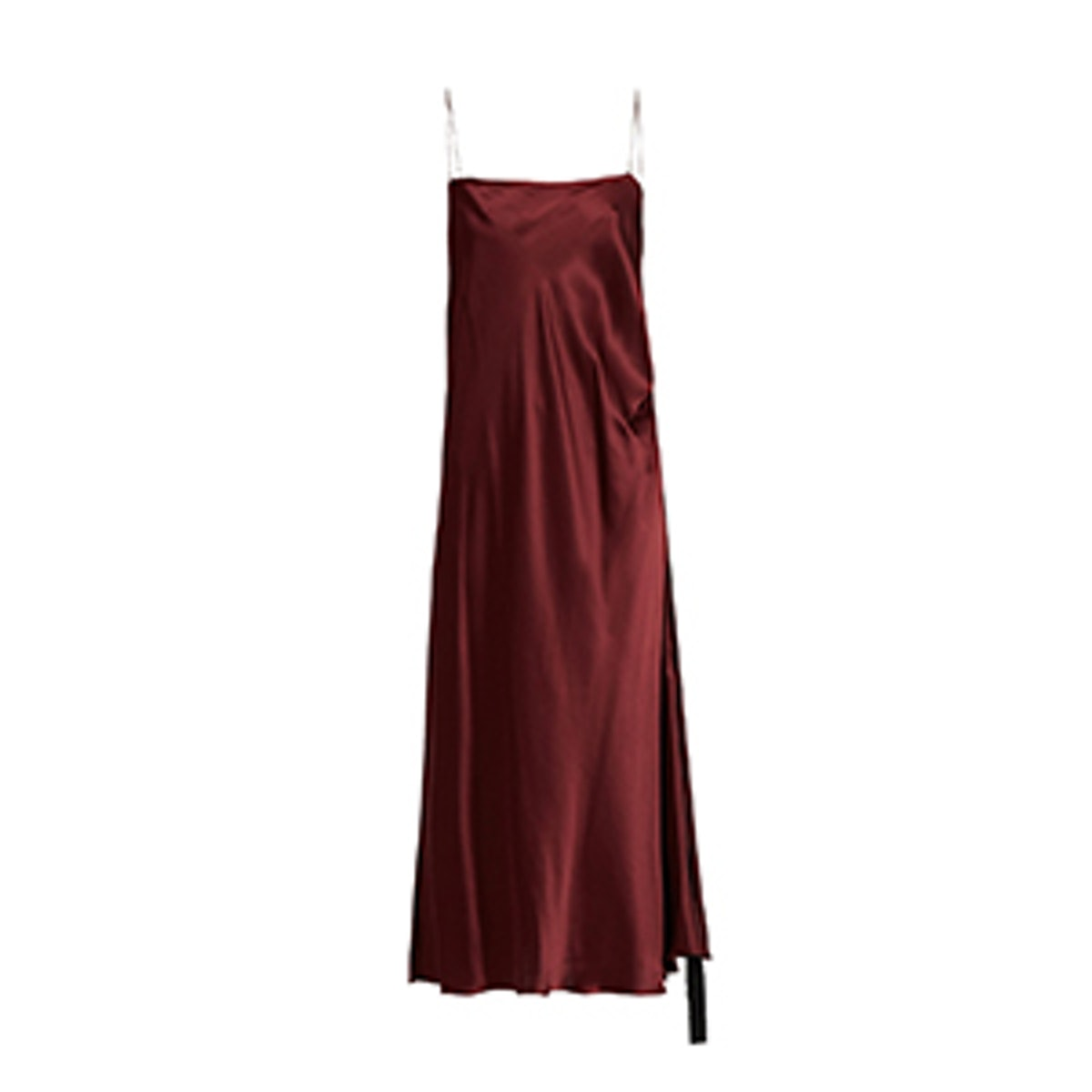 Tony Ruched-Side Silk-Satin Slip Dress