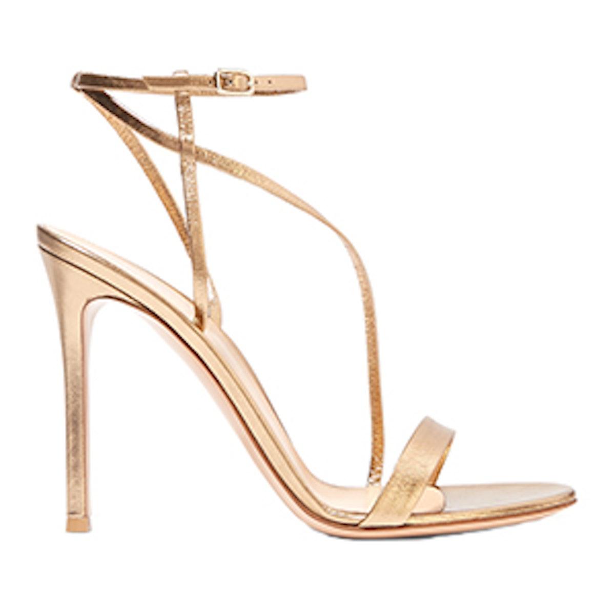 Metallic Leather Sandals