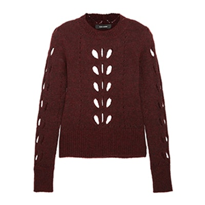 Ilia Cutout Pointelle-Knit Sweater