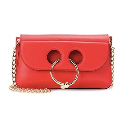 Small Pierce Leather Shoulder Bag