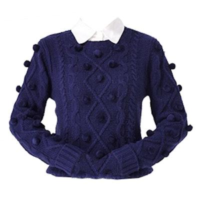 Pom Pom Cable Sweater