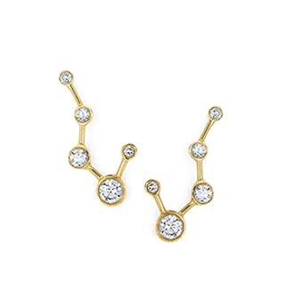 Big Dipper Constellation Diamond Earrings