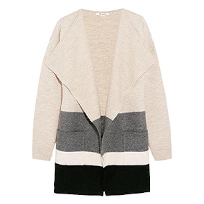 Meridan Striped Boiled Wool Cardigan