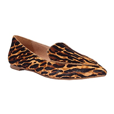 The Lou Loafer In Animal-Print Calf Hair