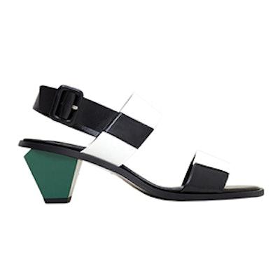 Contrast Heel Sandals