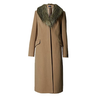 Cashmere Faux Fur Collar Coat