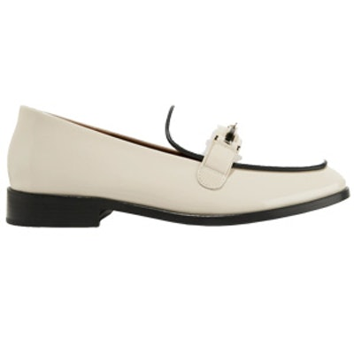 Melanie Patent-Leather And Calf Hair Loafers