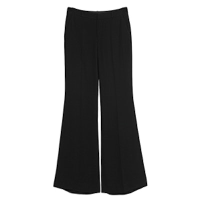 Flared Twill Trousers