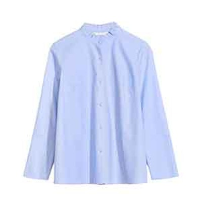 Pleated Collar Shirt