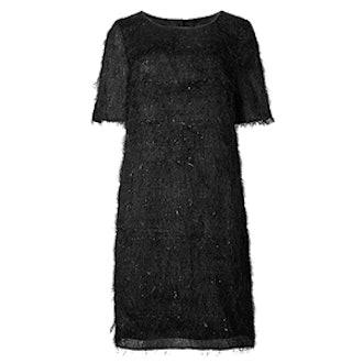 Tinsel Half Sleeve Shift Dress