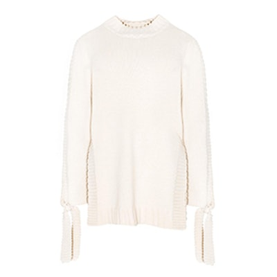 Oversize Sleeve Tie Sweater