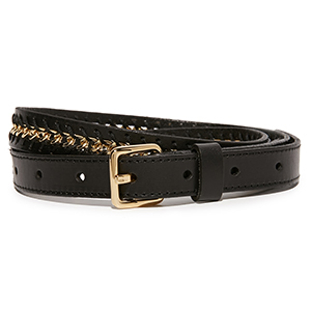Flat Strap Belt with Chain