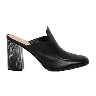 Closed Toe Marble Heel Mules