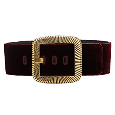 Velvet Oversized-Buckle Belt