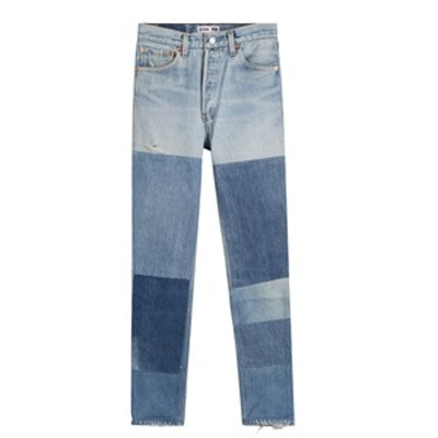 Skinny Jeans In Patchwork Finish