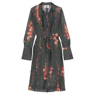 Selwyn Floral-Print Silk-Georgette Shirt Dress
