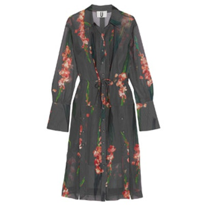 Selwyn Floral-Print Silk-Georgette Shirt Dress