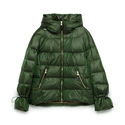Quilted Anorak with Hood