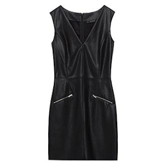 Leather Effect Shift Dress