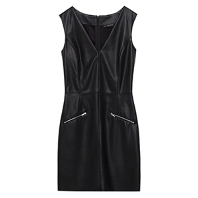 Leather Effect Shift Dress