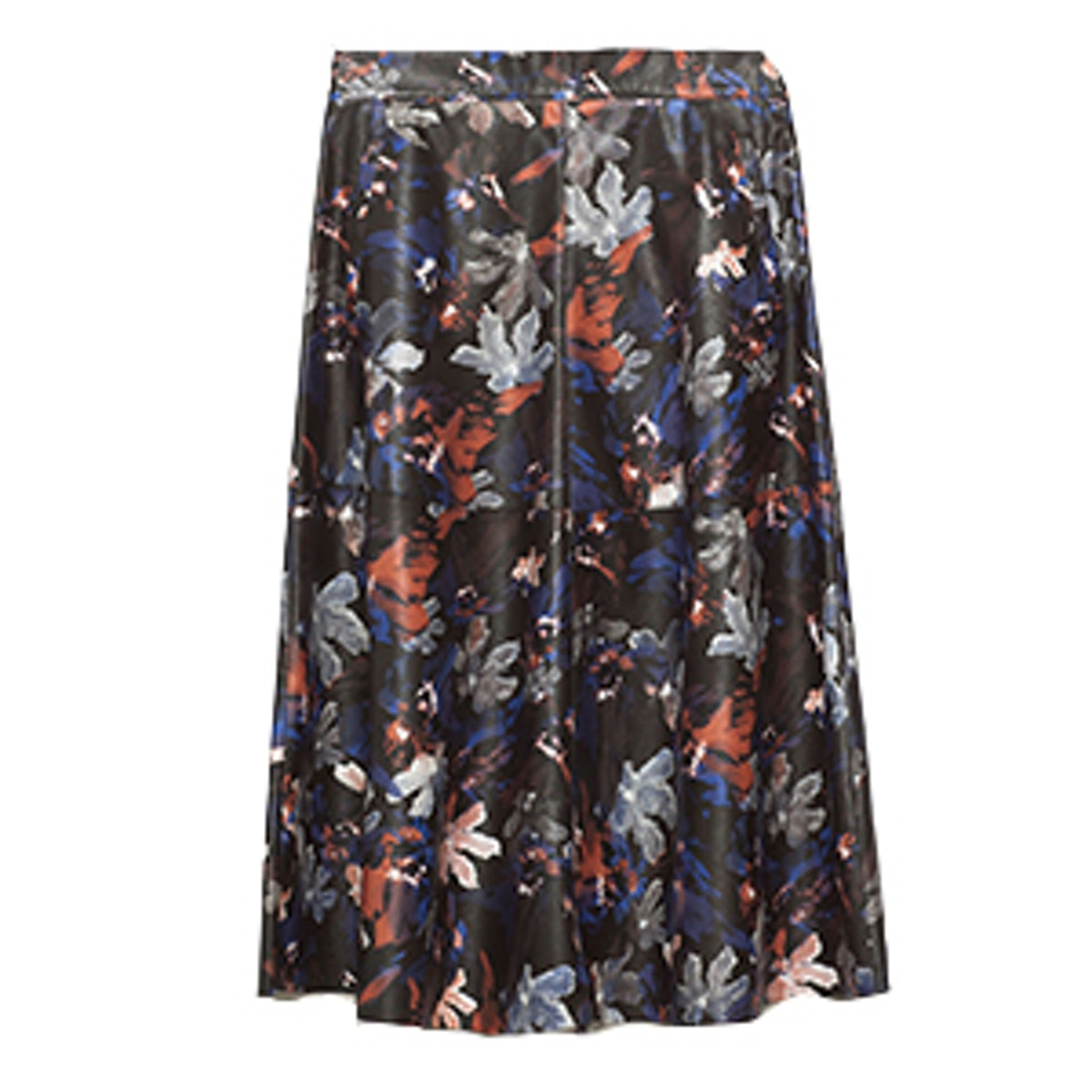 Printed Leather Effect Skirt