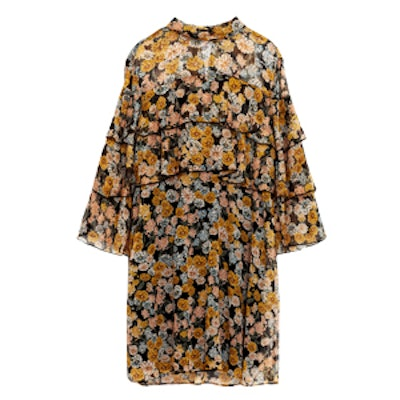 Flowing Frilly Floral Dress