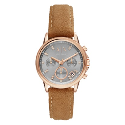 Jeweled Rose Gold Watch