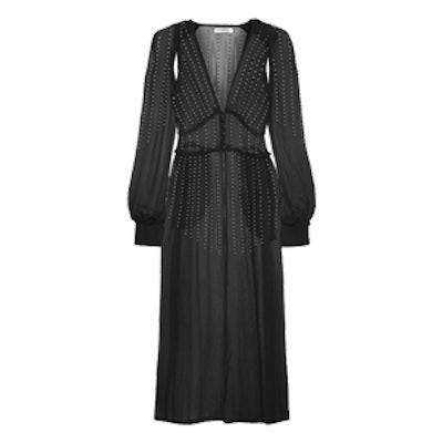 Ginger Embellished Silk-Georgette Gown
